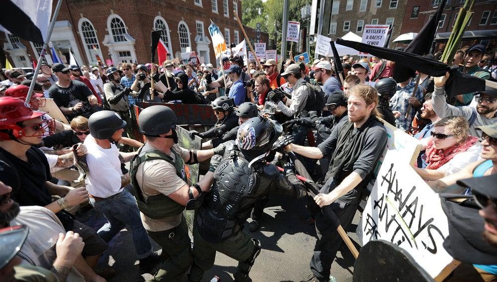 Altercados en Charlottesville, Estados Unidos