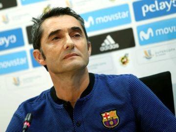 Ernesto Valverde durante una rueda de prensa