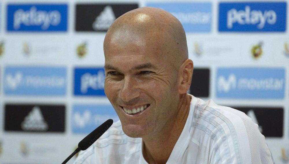 Zidane en rueda de prensa