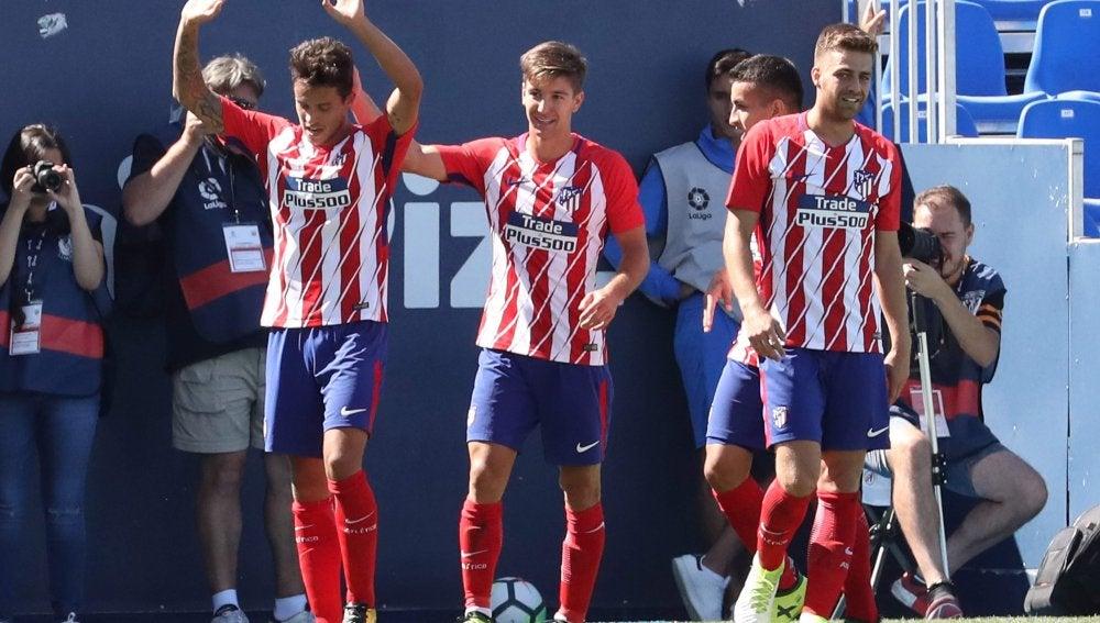 El Atlético de Madrid en el partido contra el Leganés