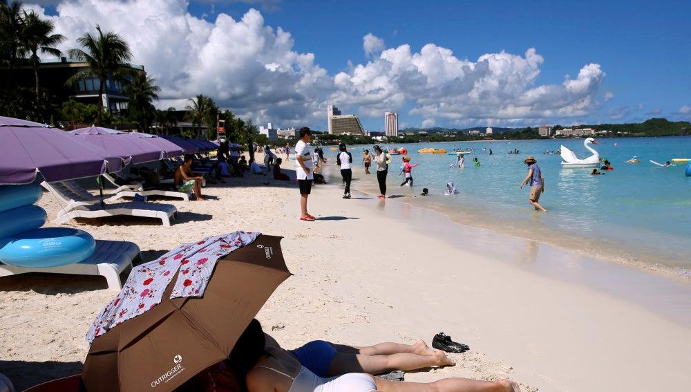 Playa de la isla de Guam