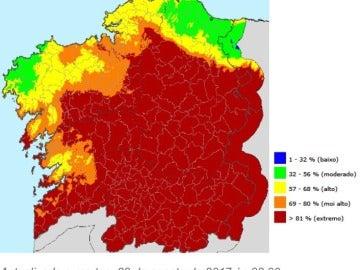 Galicia registra varios fuegos en 24 horas que queman cerca de 200 hectáreas