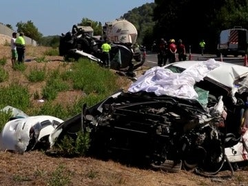 Tres fallecidos en un accidente múltiple en Sa Pobla, Mallorca