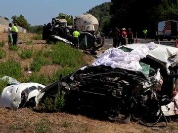 Tres fallecidos en un accidente múltiple en Sa Pobla, Mallorca