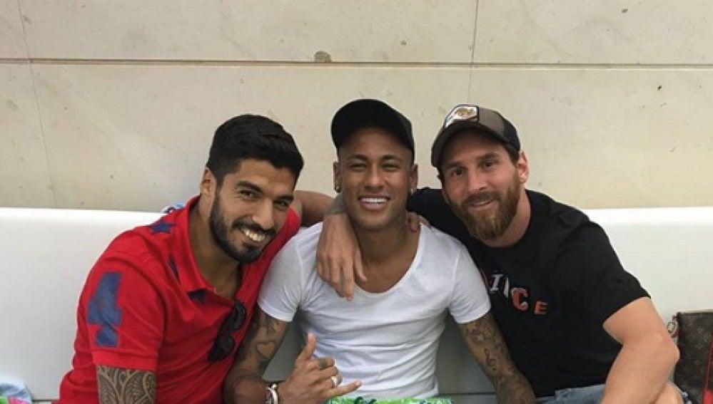 Neymar, Messi y Suárez