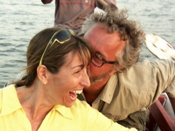 El beso robado de Fran en pleno atardecer en Gambia