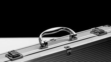 Maletín de aluminio, imagen de archivo