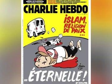 La portada de la revista satírica 'Charlie Hebdo' sobre los atentados de Las Ramblas levanta polémica