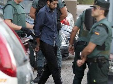 Mohammed Alla, entrando en los juzgados