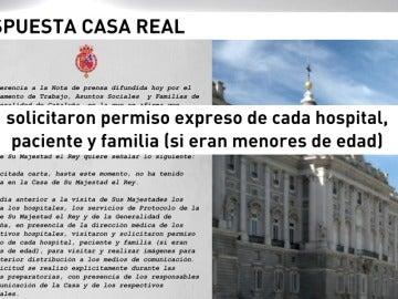 La Casa del Rey asegura que tenía autorización para realizar y publicar fotografías con niños heridos en el atentado