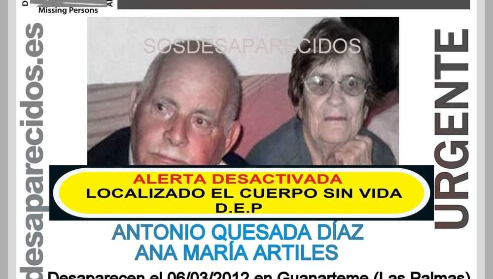 Verifican que los restos hallados en Gran Canaria pertenecen a dos ancianos desaparecidos en 2012