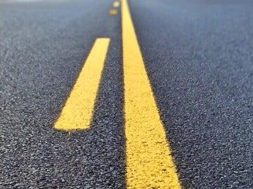Líneas de la carretera, imagen de archivo
