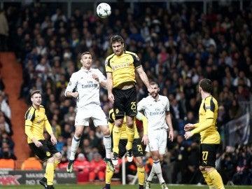 El Real Madrid y el Dortmund en un partido