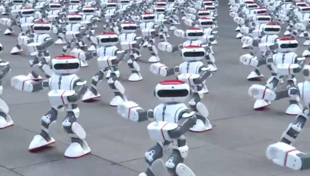 Un baile sincronizado de robots nuevo récord Guinness
