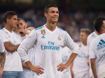 Cristiano Ronaldo sonríe tras un partido con el Real Madrid