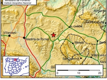 Movimiento sísmico registrado en Burgos