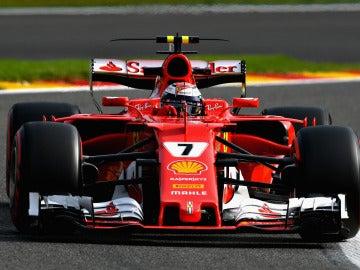 Kimi Raikkonen en Spa