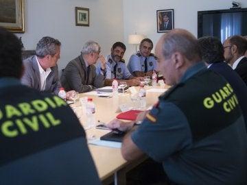 Reunión de Enric Millo y el Conseller de Interior, Joaquim Forn, con mandos policiales