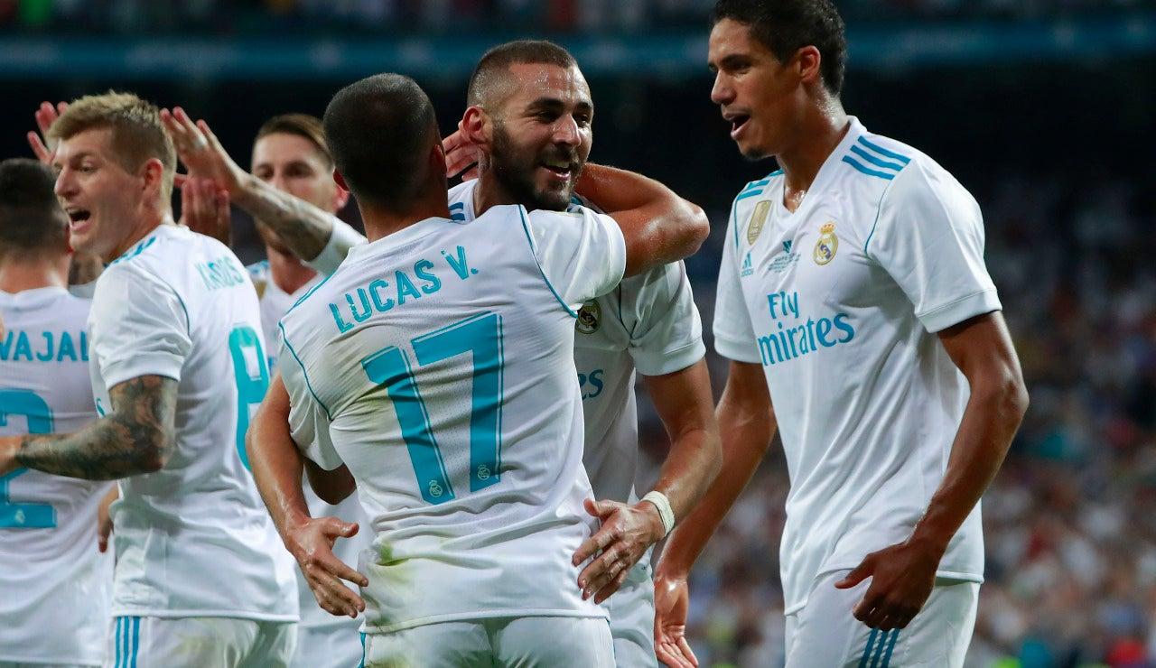 El Real Madrid celebrando un gol