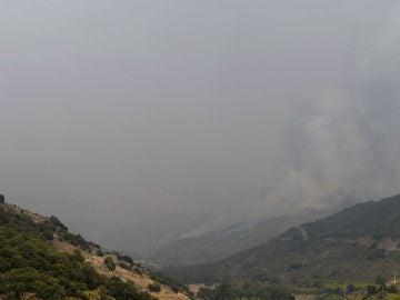 Incendio en La Cabrera, en León