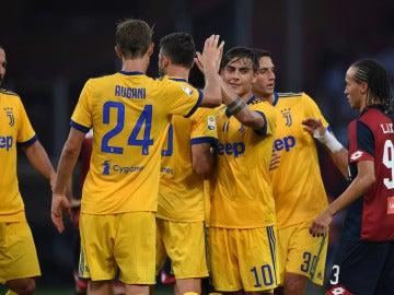 Paulo Dybala celebra uno de sus goles con la Juventus