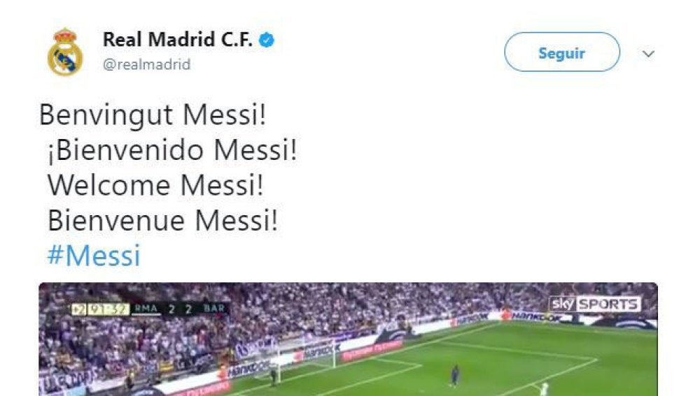 'Hackeo' del Twitter del Real Madrid