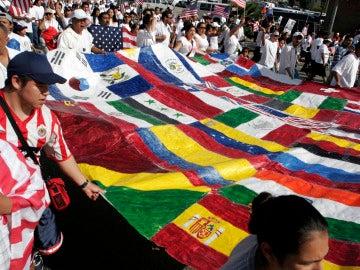 Una bandera multicultural