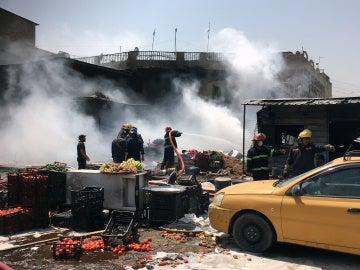 Coche bomba que hizo explosión en la zona de Yamila, Bagdad