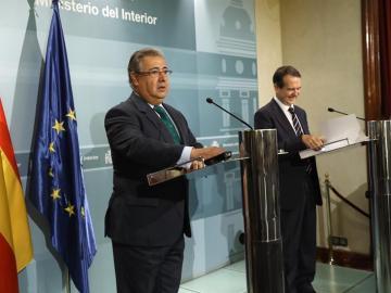 Juan Ignacio Zoido con el presidente de la FEMP, Abel Caballero