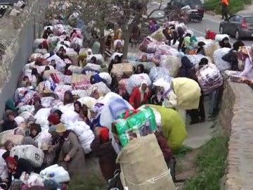 Dos porteadoras marroquíes muertas hoy una avalancha en la frontera con Ceuta
