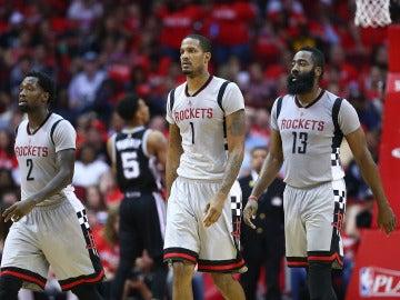 Los Houston Rockets en un partido