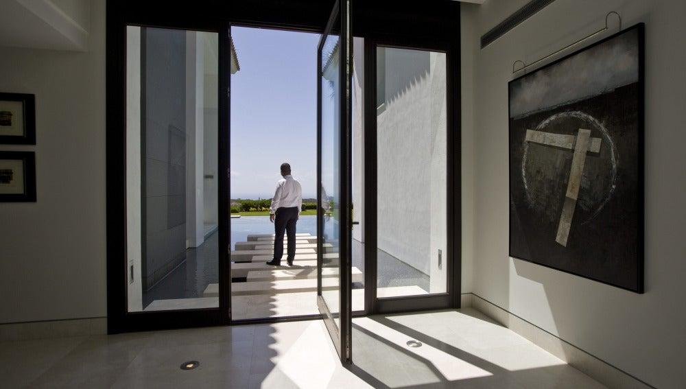Vista del interior de una vivienda en la urbanización de La Zagaleta
