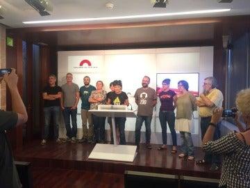 Los diputados de la CUP en rueda de prensa