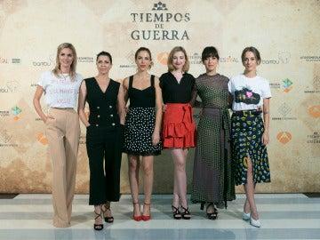 Las Damas Enfermeras de 'Tiempos de guerra' en el FesTVal de Vitoria