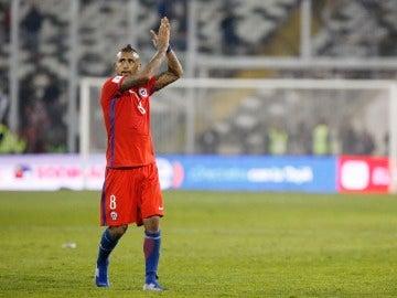 Arturo Vidal durante un partido