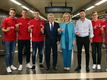 Inauguración de la estación de metro 'Estadio Metropolitano'