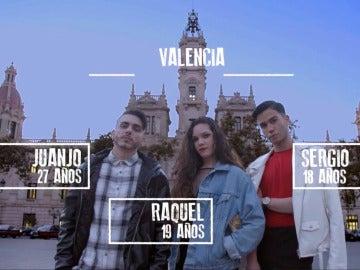 Juanjo, Raquel y Sergio comparten piso en Valencia