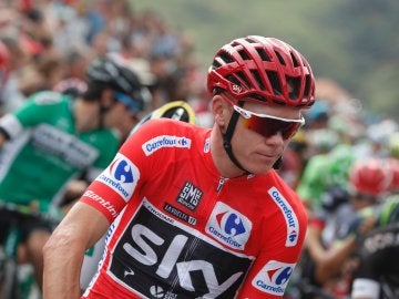 Chris Froome, durante la etapa 18 de la Vuelta