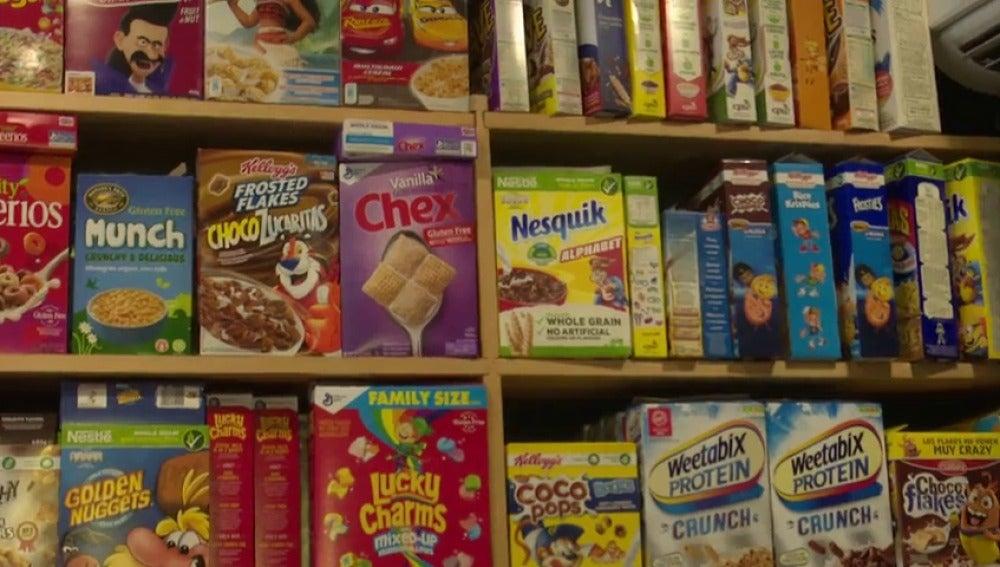 Bares con cientos de cereales y más de veinte tipos de leche