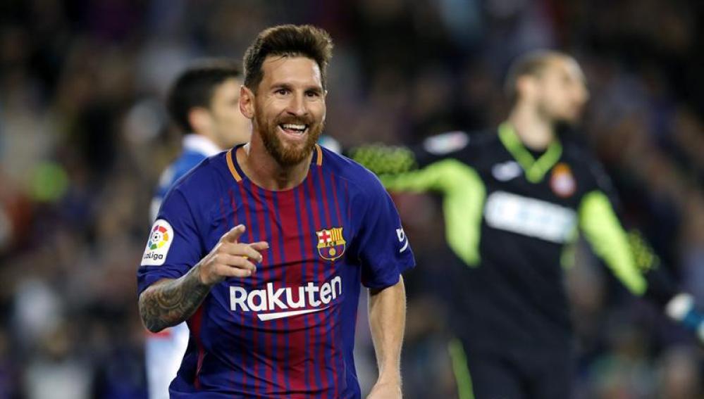 Leo Messi celebra su gol