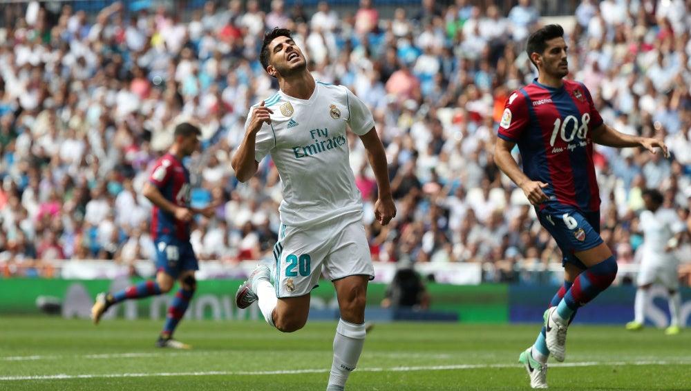 Marco Asensio se desespera en el Real Madrid - Levante