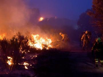 Incendio en La Granada del Riotinto