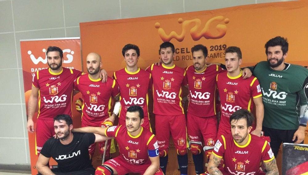 La selección española de hockey patines, durante los Roller Games