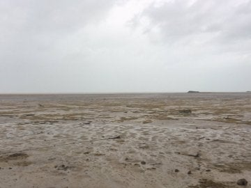 El nivel del mar baja en Bahamas