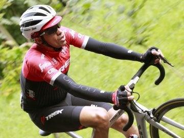 Alberto Contador durante una carrera