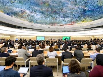 Delegados de la ONU durante una reunión