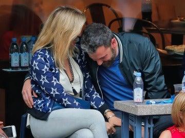 Ben Affleck disfruta con su novio Lindsay Shookus del Open USA de tenis