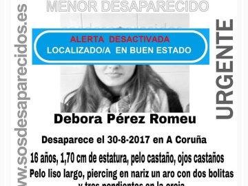 Encontrada la joven desaparecida en A Coruña