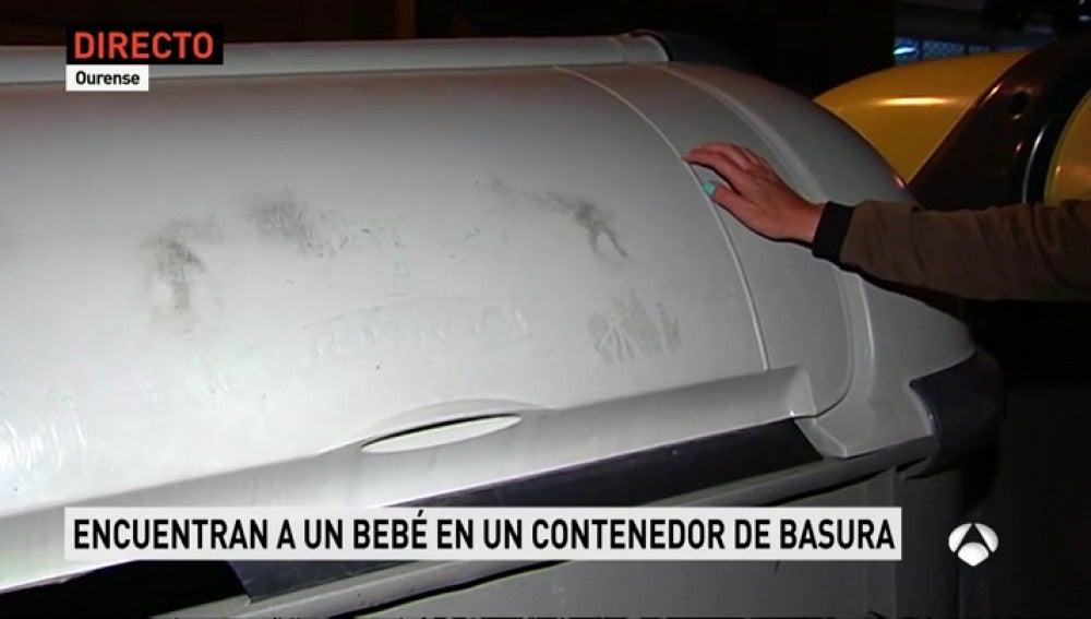 Un indigente encuentra a un bebé recién nacido en un contenedor de basura de Ourense