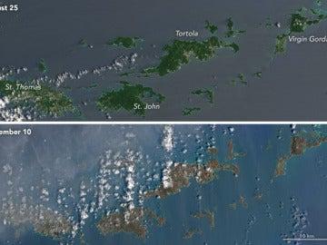 Las islas del Caribe, antes y después de Irma